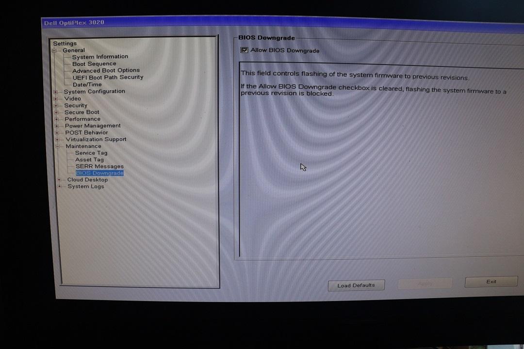 Dell Optiplex 3050 Boot Options