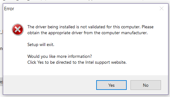 Solved: Intel UHD Graphics 630 Driver failed to update