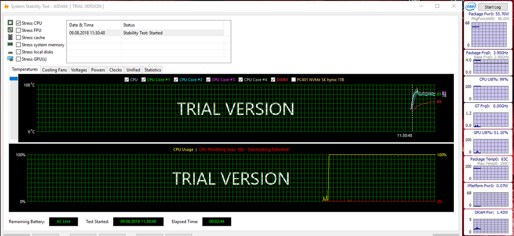 Dell XPS 15 9570, i9 thermals, throttling and solutions